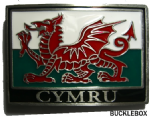 CYMRU BELT BUCKLE + display stand. Product Code: TE5